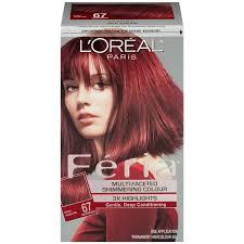Amazon Com L Oreal Paris Feria Hair Color 67 Rich Auburn