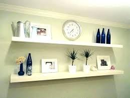 floating shelf unit small white shelving wall decorative gloss s