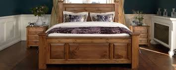 Quality Oak Bedroom Furniture Handmade Solid Oak Beds Sleigh Four Poster Traditional