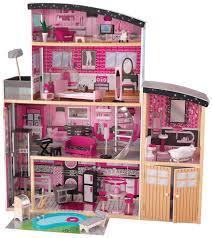wooden barbie dollhouse furniture. KidKraft Sparkle Wooden Dollhouse Barbie Furniture W