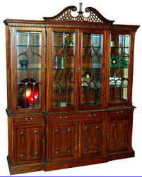 large china cabinet.  Large Large Mahogany Break Front China Cabinet Full View 1 In F