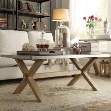 wonderful aberdeen industrial zinc top weathered oak trestle coffee table inside zinc top coffee table modern