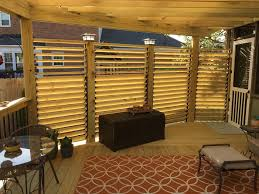 Deck Privacy Wall Designs Louvered Deck Railings With Partial Privacy By Matthew From