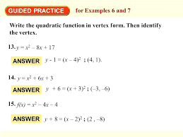 example of vertex form math vertex form of a quadratic equation with regard to vertex form