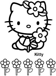 I Fiori Di Hello Kitty Disegni Da Colorare Gratis Disegni Da