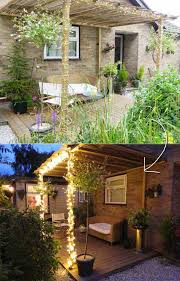 via enthusedmonkey 35 amazing diy outdoor lighting ideas for the garden diy decked garden terrace