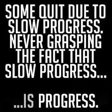 Slow Progress Is Still Good Progress. Some quit due to slow ... via Relatably.com