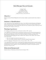 Restaurant Manager Resume Objective Assistant Manager Resume Objective Resume Fresh Assistant Store