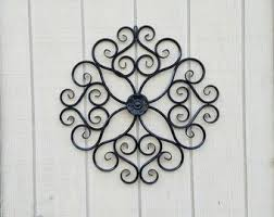 iron wall art. Metal Wall Decor / Wrought Iron Art Large Scroll Flower