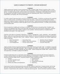 Summary For Resume Examples Customer Service Igniteresumes