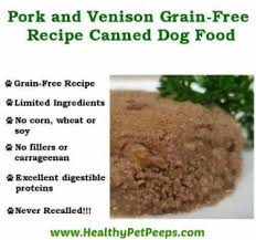 bone meal for dogs. Pork And Venison Canned Dog Food Www.HealthyPetPeeps.com Bone Meal For Dogs