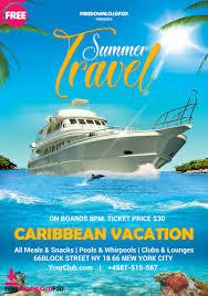 Summer Travel Flyer Template Psd Psdflyer Co