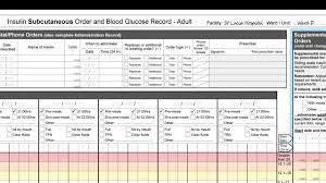 Video 2 Insulin Chart Instructions 2017