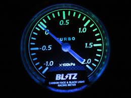 Blitz Black Light Gauges Blitz Carbon Face Black Light Boost Gauge Meter Blm Ebay