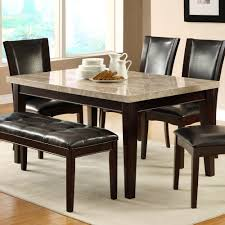 Marble Top Kitchen Table Set Homelegance Hahn Marble Top Dining Table In Espresso Beyond Stores