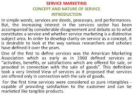 concept and nature of service