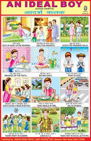 Ideal Boy Indian Good Habits Chart School Posters