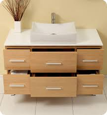 beautifully understated natural wood vanity59