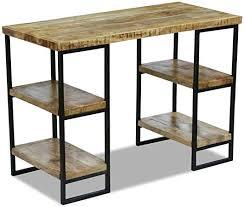 Xingshuoonline <b>Office Desk Mango Wood</b> PC Gaming Desk Study ...