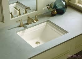 Bathroom Sink & Faucet : Bathroom Sink Shelf Square Undermount ...