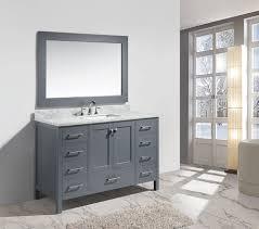 54 Bathroom Vanity Cabinet 54 London Single Sink Vanity Set In Gray Finish Bathroom