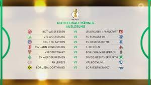 Wann genau die auslosung findet im rahmen der ard hier erfahrt ihr alle wichtigen informationen. Zwei Bundesligaduelle Im Achtelfinale Dfb Deutscher Fussball Bund E V