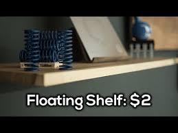 a simple diy 2 floating shelf