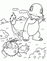 Charmander Pokemon Coloring Pages For Kids
