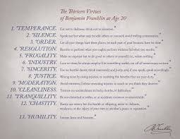 Benjamin Franklin Virtues Chart Dashboard Benjamin Franklin Then And Now Movable Type