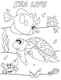 Sea Life Colouring Pages Printable Printable Coloring Page For Kids