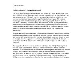 evaluate bowlby s theory of attachment a level psychology document image preview