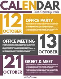 Upcoming Events Flyer Corporate Newsletter Event Calendar Flyer Template