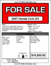 Car For Sale Template Free Printable Car For Sale Sign For Sale Sign Car