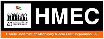 hitachi construction logo. hitachi construction machinery middle east corporation fze dubai uae logo n