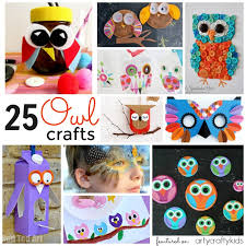 25 owl crafts for kids arty crafty