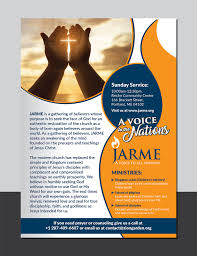 Christian Pamphlet Designs Elegant Modern Religious Flyer Design For A Company By