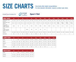 Sport Tek Sizing Chart