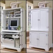 White armoire desk