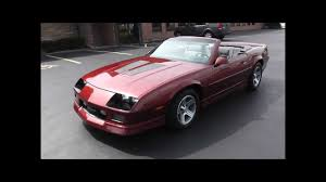 1988 Chevrolet Camaro IROC Z Convertible - YouTube