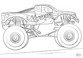 Small Picture Coloring Pages Madusa Monster Truck Coloring Page Free Printable