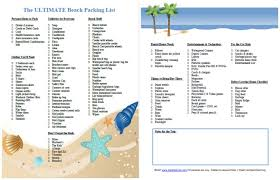 Packing List For Vacation Template The Ultimate Family Beach Vacation Packing List And