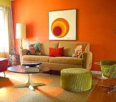 Orange Decorating For Living Room Living Room Gorgeous Colorful Family Room Design On A Budget