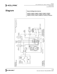 kolpak product Walk-In Cooler Thermostat drop in refrigeration systems wiring diagram