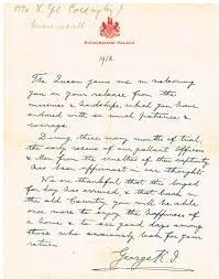 Letter World File Hand Written Letter Of Recognition For World War 1 Pow From