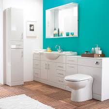 White Bathroom Suite Alaska High Gloss White 6 Piece Vanity Unit Bathroom Suite At