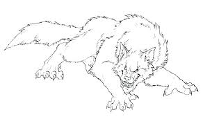 Werewolf Coloring Pictures Realistic Werewolf Coloring Pages