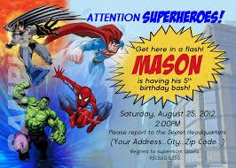 superheroes party invites superhero birthday party invitations card free invitations ideas