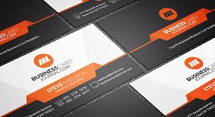 tech business card free sleek stylish orange accent business card template