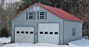 9 foot garage door2 Story Prefab Garage  Horizon Structures  garage construction