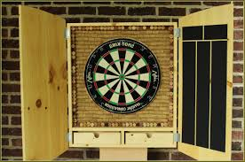 Dart Board Cabinet With Chalkboard Dart Board Cabinet Home Design Ideas